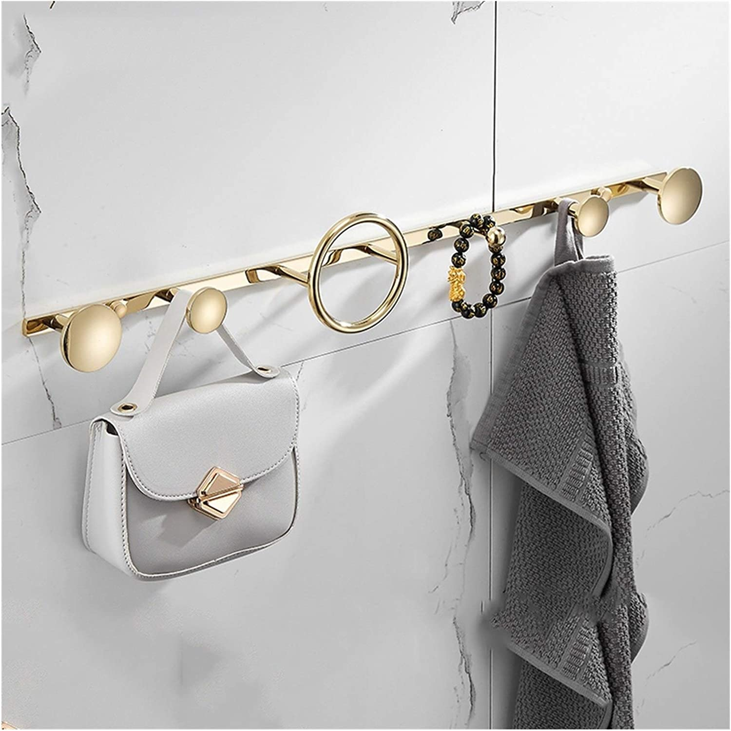 Coat Rack Wall Mount Hooks Hoo Recommended Gold Max 48% OFF Luxury Light Black