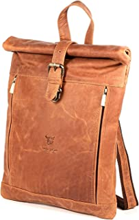 MATADOR kleiner Lederrucksack für Damen aus Echtleder Rolltop Rucksack Damen Rucksack Leder   Tagesrucksack Damen Lederruc...