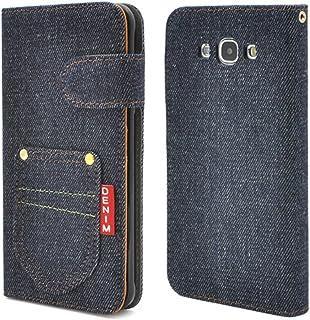 PLATA Galaxy ギャラクシー A8 SCV32 用 デニム スタンド ケース ポーチ 手帳型 カバー