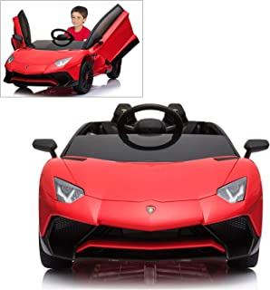 lamborghini toy car with steering wheel