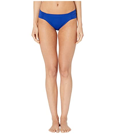 La Blanca Island Goddess Side Shirred Hipster Bottom (Blueberry) Women