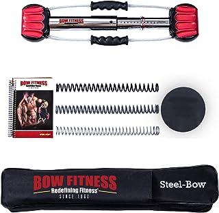 Bow Fitness 20 インチのスチールボウ - フルボディワークアウト - ポータブルホームジムアイソメートエクササイズ機器のための高速ストレングストレーニングの利点クロストレーニングフィットネス、胸、背中、腕、腹筋運動マシン