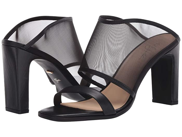 42 GOLD  Linx (Black Leather) Womens Sandals