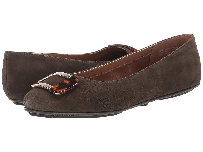 Aerosoles  Sensational (Dark Green Suede) Womens Flat Shoes