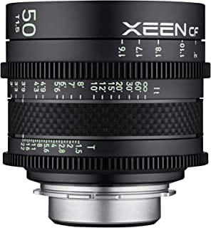ROKINON XEEN Cf 50mm T1.5 Pro Cinema Lens with Carbon Fiber Construction & Luminous Markings for Canon EF Mount