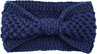 Dltmysh Bandeau Hiver Warmer Turban Tricoté Turban pour Lady Femmes Crochet Bow Wided Stretch Bandeau Hairband Heavrap Acc...