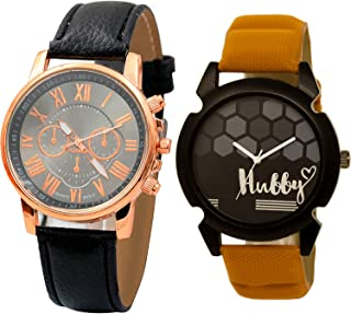 NIKOLA Hubby Analogue Black Color Dial Boys Watch - B192-BL46.32 (Pack of 2)