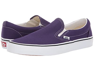 Vans Classic Slip-Ontm (Violet Indigo/True White) Skate Shoes