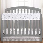 BreathableBaby Railguard Crib Rail Cover - Star Light White and Gray