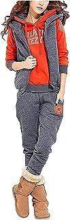 BUOYDM Tuta Donna Sportiva Completa Abbigliamento Sportiva Invernale Felpa & Giacca Gilet & Pantaloni Completi Tute Sporti...