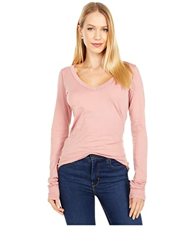 LAmade Fitted V-Neck Tee (Ash Rose) Women
