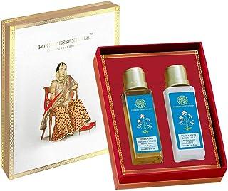 Forest Essentials Jasmine & Mogra Body Care Duo Gift Box, 100ml (Body Wash + Body Lotion)