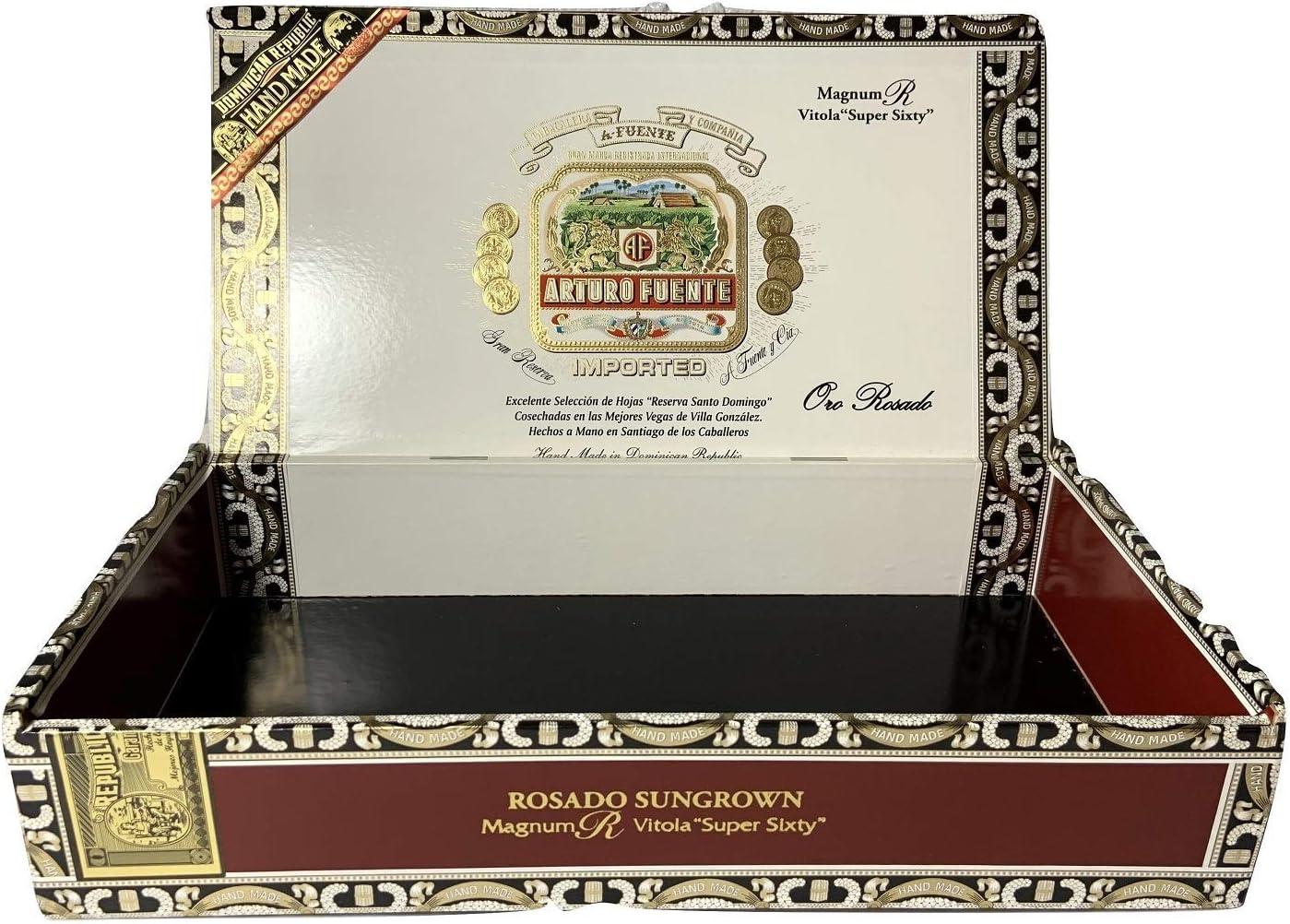 SHANG-JUN humidores de Puros Caja de la Caja Arturo Fuente Prima de Madera del cigarro por Crafts, Guitarras o Almacenamiento (Magnum R Vitola) Puros para Fumar (Size : Magnum R Vitola)