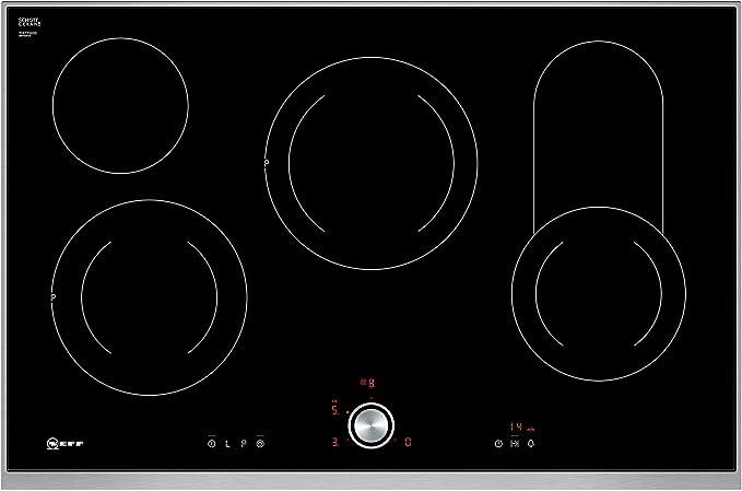Neff t18bt16 N0 hobs eléctrico/vitrocerámica/vidrio y cerámica/79,50 cm/interfaz de cocina vitrocerámica/vidrio y cerámica/Negro