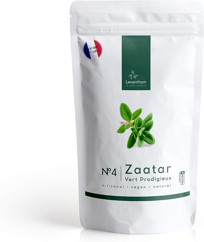 Real Zaatar Premium, Fresco, Delicioso y muy fragante - Za'atar con solo 1% de sal Zatar - N.4 Vert Prodigieux 180g