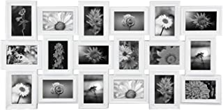 JERRY & MAGGIE - Photo Frame 17x33 Long Rectangle Picture Frame Selfie Gallery Collage Wall Hanging for 6x4 Photo - 18 Photo Sockets - Wall Mounting Design (White | 18 Pieces Gallery)
