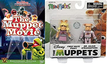 Mini Pigs Being Green the Original Muppets 50 Years Feature Movie DVD + Miss Piggy First Mate & Strangepork figures Collec...