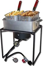 King Kooker 1618 16-Inch Propane Outdoor Cooker with Aluminum Pan and 2 Frying Baskets