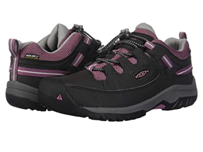 Keen Kids Targhee Low WP (Little Kid/Big Kid) (Raven/Tulipwood) Girl