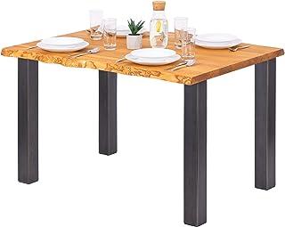 LAMO Manufaktur Table à Manger, Table pour Salle à Manger 120x80x76 cm (Long. x larg. x Haut.), Bois Massif, Classic, Frên...