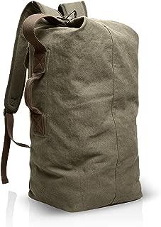 FANDARE Casual Backpack College Bag Hiking Rucksack Daypack Schoolbag Bookbag Working Travel Biking Shoulder Bag Commute Multipurpose Knapsack Men/Women High Capacity Waterproof Canvas Brown