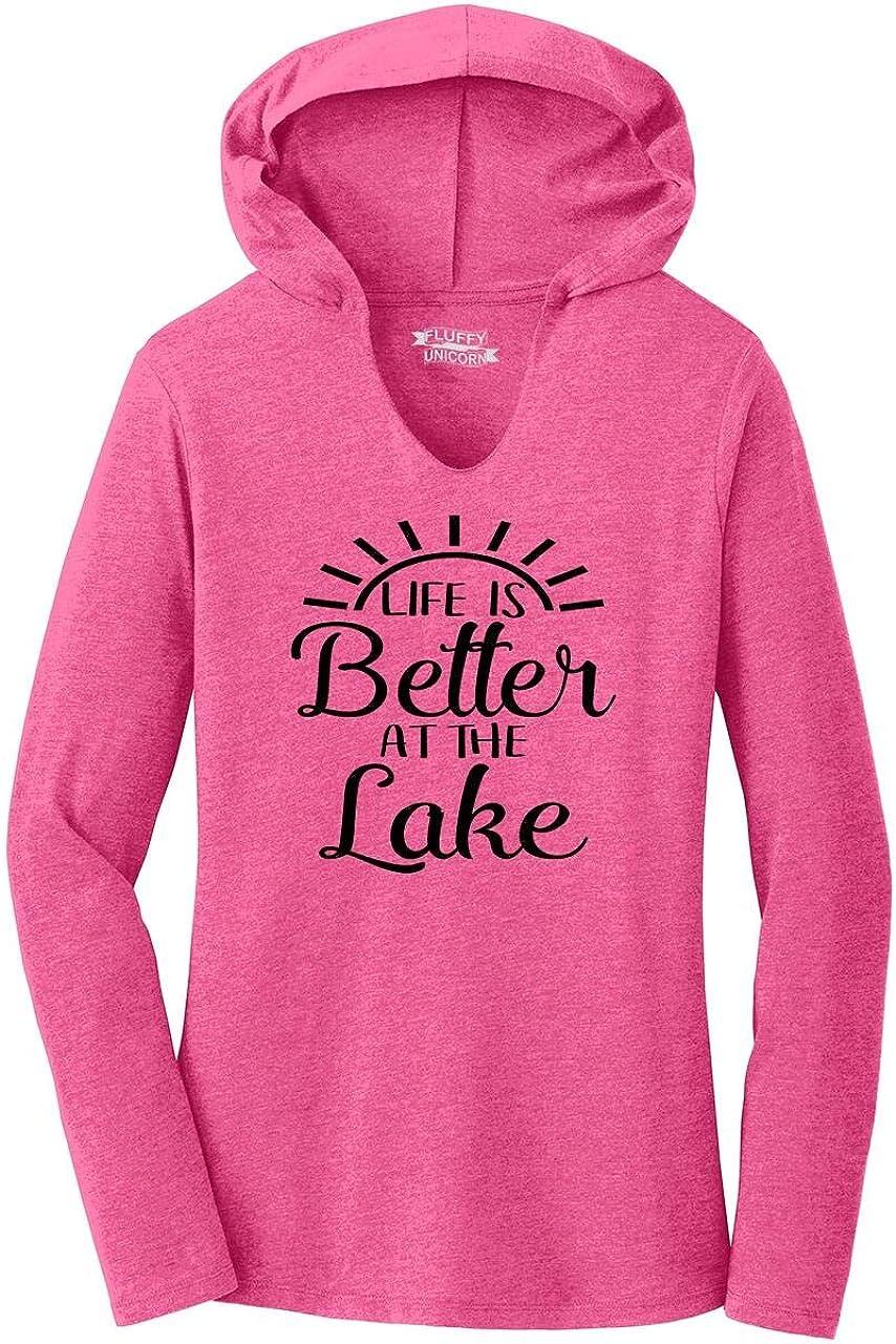Comical Shirt Ladies Life is Better at The Lake Hoodie Shirt