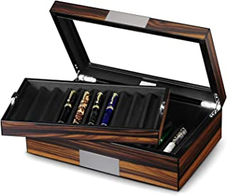 wood fountain pen holder