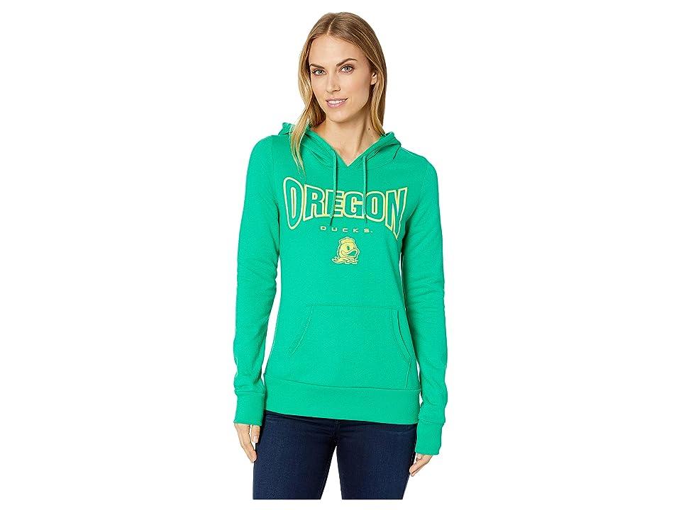Champion College Oregon Ducks Eco University Fleece Hoodie (Dark Green 2) Women