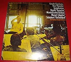 MUSIC FROM MARLBORO-20th ANN.- CASALS, Cond.- Haydn: Surprise, Mendelssohn: Italian, Mozart: Jupiter, Schubert: Unfinished- Columbia Masterworks- 2 LP vinyl set- MGP- 32-Stereo- (1974)
