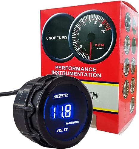 2/'/' 52mm Universal Auto Car Voltage Gauge Red Digital LED Racing Volt Meters