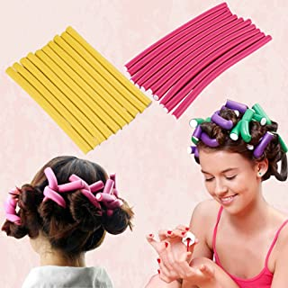 SISTER Hair Curling Flexi Rods 20 Pieces Magic Hair Foam Hair Rollers Soft Twist Hair Curler Rods for Your Hair Without He...