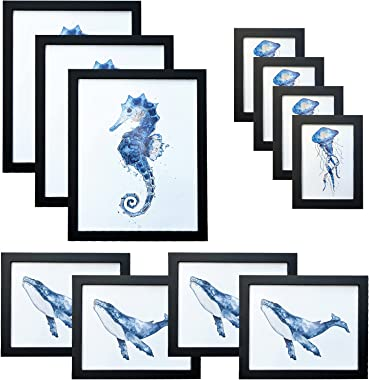 Charein Picture Frames Set of 11, Multi Photo Frames Collage Gallery Wall Frame for Multiple Size Photograph, Three 11x14 Fou