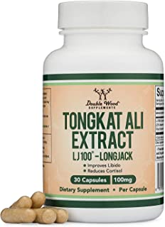 Tongkat Ali Vegan Extract – LJ100 Patented and Clinically Proven Longjack Capsules – 100mg (Malaysian Ginseng) by Double W...