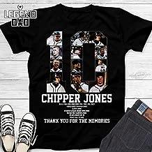 Chipper-10 Baseball Atlanta Jersey Jones Fan Thank You For The Memories Customized Handmade T-Shirt/Hoodie/Long Sleeve/Tank Top/Sweatshirt