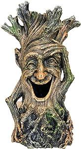 SLOCME Fish Tank Tree Statue Decorations - Lifelike Tree Wood Sculpture Ornament,Fish Can Swim Through The Trunk Hole