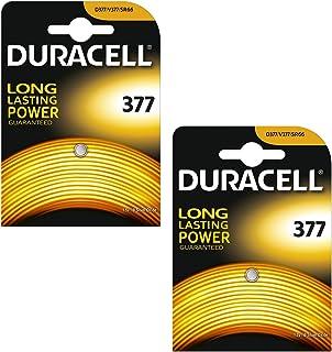 Duracell 377 SR626SW Lot de 2piles à oxyde d'argent 1.55V pour montre–Équivale...