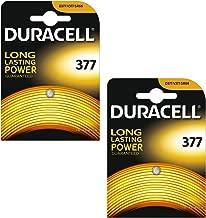 Duracell 377 sr626sw sb-aw ag4 1.55v oxyde d'argent piles (pack de 2)