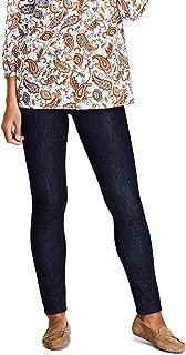 Lands' End Women's Elastic Waist Pull On Skinny Legging Jeans - Blue