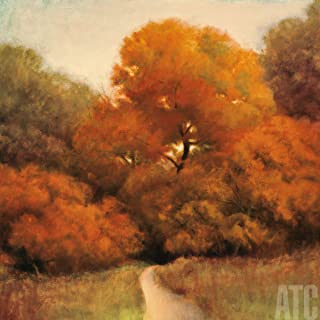ArtToCanvas 27W x 27H inches : Harmony in Orange and Green by Robert Striffolino - Canvas