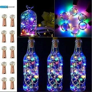 Botella de luz Fiesta ALED LIGHT 12 Pack Botellas de Vino Luces 20 LED Luz de Bricolaje Corcho Micro Luces LED para Botella de Vino para Boda Decoraci/ón de Botella,Decoraci/ón de Luces