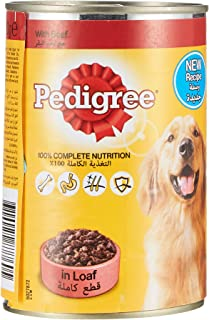 Pedigree Beef Loaf, Wet Dog Food, Can, 400 gm