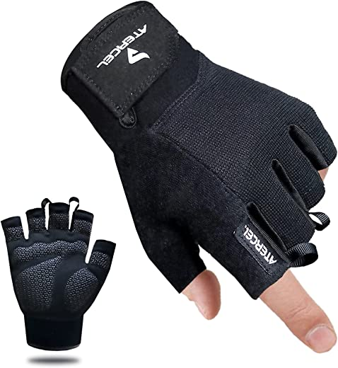 Atercel Workout Gloves for Men and Women, Exercise Gloves for Weight Lifting, Cycling, Gym, Training, Breathable and Snug fit