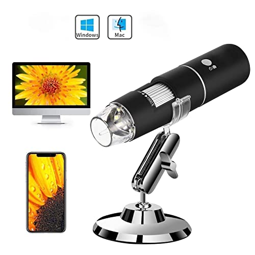 Auslese™ 50 to 1000x Magnification Endoscope, 8 LED USB 2.0 Digital Microscope, Mini Camera with Metal Stand, Compatible with Mac & Window 7 8 10