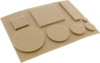 7Penn Adhesive Felt Furniture Pads for Hardwood Floors - Felt Pads for Chair Legs Pads, Round Square, Tan - 181pc