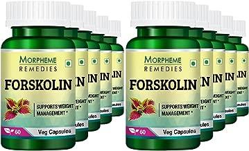 Morpheme Remedies Forskolin Extract (20% Coleus Forskohlii) - 60 Veg Capsules for Weight Management (Pack of 10)