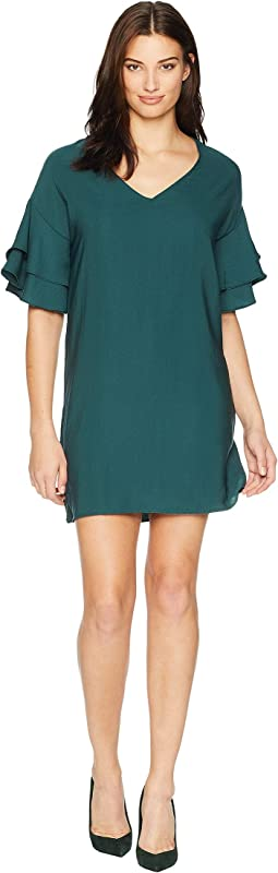 Dawn Ruffle Sleeve Shift Dress