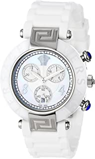Women's 92CCS1D497 S001 Reve Ceramic Bezel Chronograph White Rubber Watch
