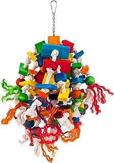 Zabawka papugi, kolorowy most tęczowy, żucia, wiszące zabawki, gniazdo papugi, odpowiednie dla wielu dużych i małych papug...