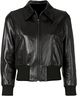 VearFit Women's Sleek Bomber Faux Black Leather Jacket Winter Collection New Arrival