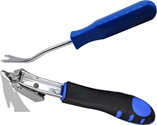 Anianiau Upholstery Staple Remover with Tack Puller Tool,Ergonomic Handle - Saves You Hours (Blue)